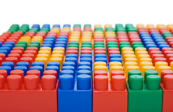 Multi-colored plastic blocks Royalty Free Stock Images