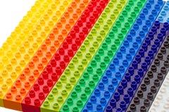 Multi-colored plastic blocks Stock Photography