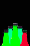 Multi colored plastic bottles Royalty Free Stock Photos