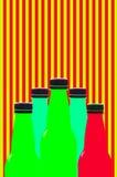 Multi colored plastic bottles Stock Photos