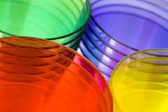 Multi-colored plastic cups Royalty Free Stock Image