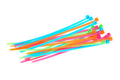 Multi colored plastic strips Royalty Free Stock Photography