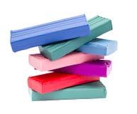 Multi colored plasticine Stock Photography