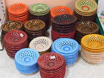 Multi-colored plates Stock Photography
