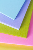 Multi Colored Post It Notes Royalty Free Stock Photography