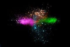 Multi Colored powder splash cloud Royalty Free Stock Images