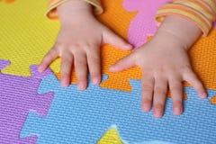 Multi colored puzzle Stock Photo