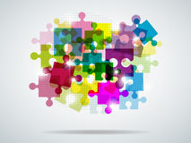 Multi-colored puzzle Royalty Free Stock Images