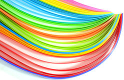 Multi colored quilling paper Stock Photos