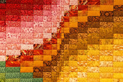 Multi colored quilt patchwork Stock Images