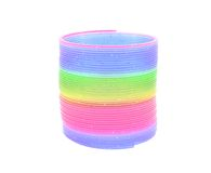 Multi-Colored Rainbow Spring Toy Isolated Royalty Free Stock Photography