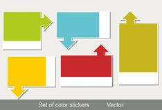Multi-colored realistic stickers Stock Photography
