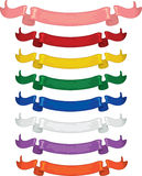 Multi colored Ribbons royalty free stock image