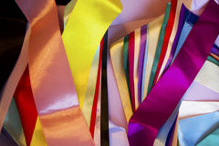 Multi colored ribbons Royalty Free Stock Images