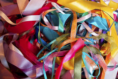 Multi colored ribbons Stock Photos