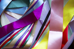 Multi colored ribbons Stock Photo