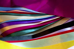 Multi colored ribbons Stock Images