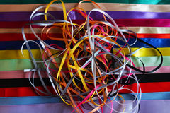 Multi colored ribbons Royalty Free Stock Photo