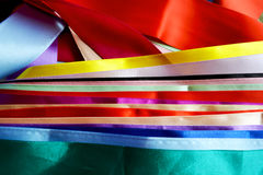 Multi colored ribbons Stock Photography