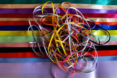 Multi colored ribbons Royalty Free Stock Photos