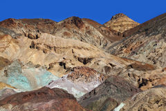Multi-colored rocks in Death Valley Royalty Free Stock Photos