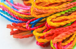 Multi-colored rope Stock Images