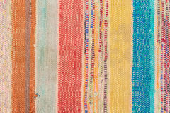 Multi Colored rustic rug Stock Photos