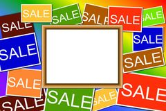 Multi colored Sale signs Stock Photos