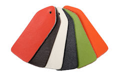 Multi-colored samples of leather Royalty Free Stock Image