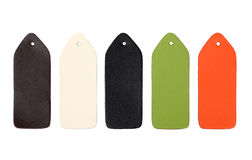 Multi-colored samples of leather Royalty Free Stock Photography