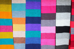 Multi-colored scarfs. Helsinki, Finland Stock Images