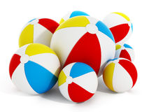 Multi colored sea balls isolated on white background. 3D illustration.  Stock Images