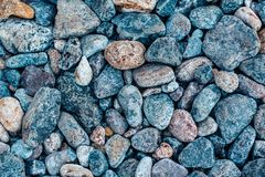 Multi-colored sea stones, beach pebbles background, texture royalty free stock images