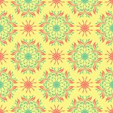 Multi colored seamless floral background. Pink blue green and yellow pattern. For textile and wallpapers Royalty Free Stock Photography