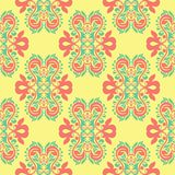 Multi colored seamless floral background. Pink blue green and yellow pattern. For textile and wallpapers Stock Images