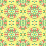 Multi colored seamless floral background. Pink blue green and yellow pattern. For textile and wallpapers Royalty Free Stock Photos