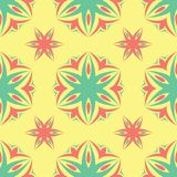Multi colored seamless floral background. Pink blue green and yellow pattern. For textile and wallpapers Royalty Free Stock Photo