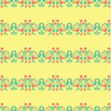 Multi colored seamless floral background. Pink blue green and yellow pattern. For textile and wallpapers Royalty Free Stock Image