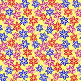 Multi Colored Seamless Floral Pattern Royalty Free Stock Images