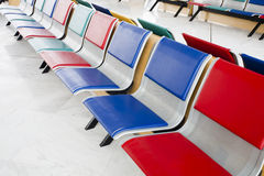 Multi-colored seats Royalty Free Stock Photo