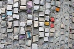 Multi-colored segmenten element van het oude mozaïek stock fotografie