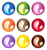 Multi-colored sferische knopen Stock Fotografie