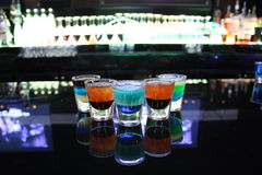 Multi-colored Shot Glasses Stock Images