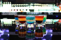 Multi-colored Shot Glasses Royalty Free Stock Photo