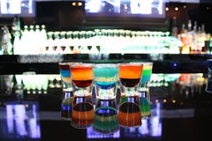 Multi-colored Shot Glasses Stock Photography