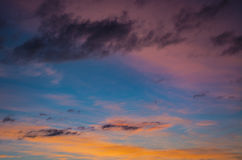 The multi-colored sky Royalty Free Stock Photography