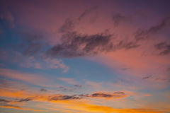The multi-colored sky Royalty Free Stock Photo