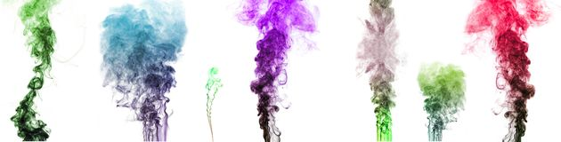 Multi-colored smoke Royalty Free Stock Photos