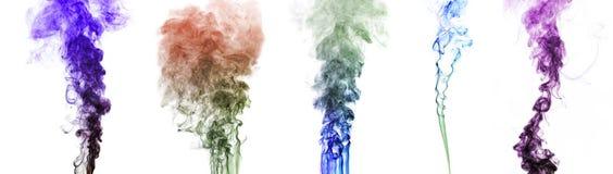 Multi-colored smoke on white Royalty Free Stock Photos