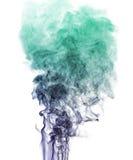 Multi-colored smoke on white Stock Image